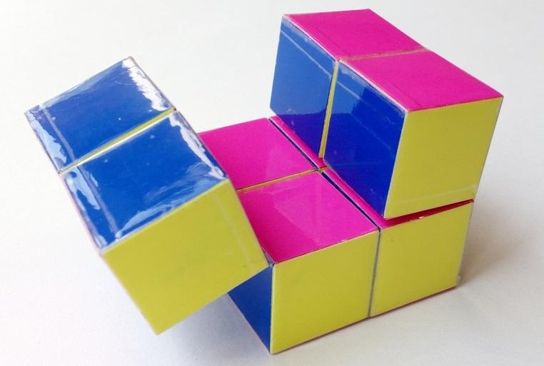 Куб бесконечности из полосок, Вариант 2