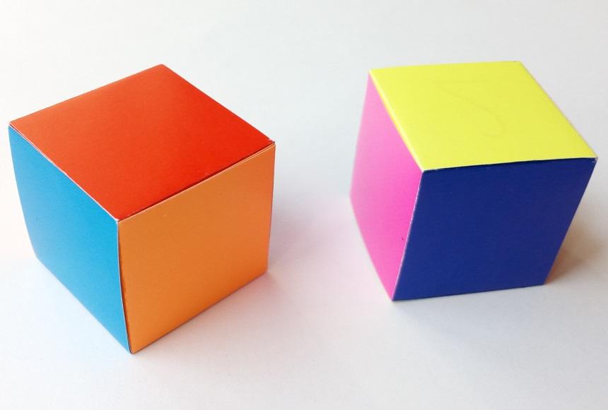 Куб из полосок оригами