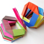 Радуга пружинка оригами  Вариант 2