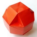 Мячик — коробочка оригами
