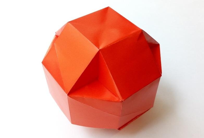 Мячик - коробочка оригами