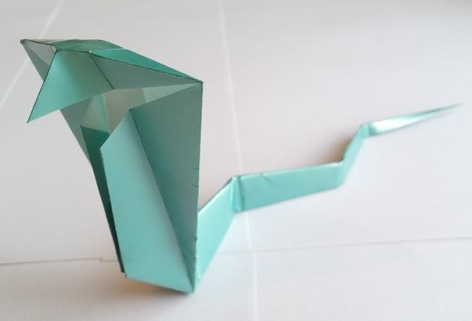 Простая кобра оригами, Simple origami cobra