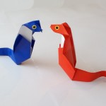 Как сделать кобру оригами