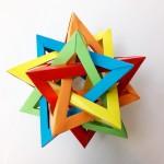 Пять пересекающихся тетраэдров оригами (Thomas Hull)
