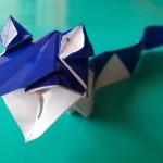 Классная змея оригами