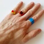 Кольцо печатка оригами