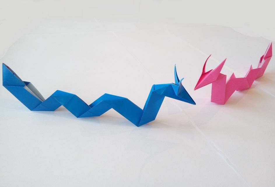 Морской дракон оригами