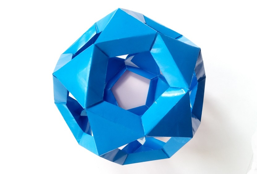 Кусудама икосододекаэдр оригами