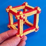 Объемный куб, плетеный из полосок